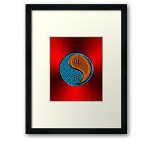 Scorpio & Tiger Yang Wood Framed Print