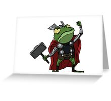 Thor, Frog of Thunder Greeting Card