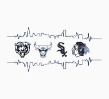 Chicago Sports Heart Beat 1 Kids Clothes