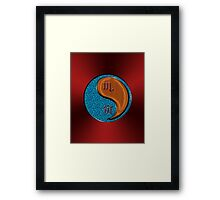 Scorpio & Tiger Yang Wood Framed Print