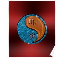 Scorpio & Tiger Yang Wood Poster