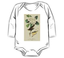 James Audubon Vector Rebuild - The Birds of America - From Drawings Made in the United States and Their Territories V 1-7 1840 - Canada Flycatcher One Piece - Long Sleeve