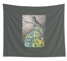 Peacock in Acrylic Wall Tapestry
