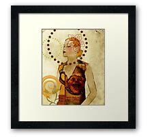 Lady Voila and Black Ribbon Framed Print