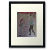 Jazz Club Neon Framed Print