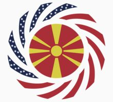 Macedonian American Multinational Patriot Flag Series T-Shirt