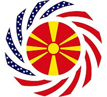 Macedonian American Multinational Patriot Flag Series Photographic Print
