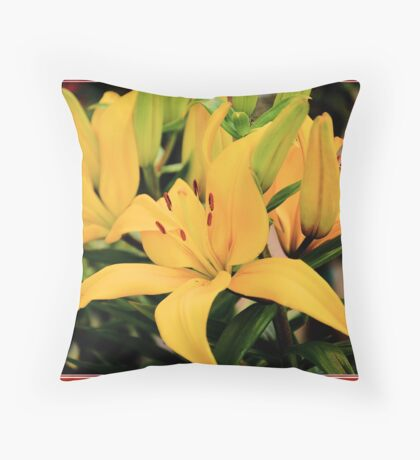 Spring Time Lilies Throw Pillow