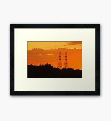 Power Towers Framed Print