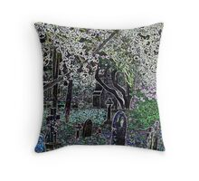 Multi coloured graveyard Throw Pillow