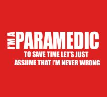 I AM I Paramedic Kids Clothes