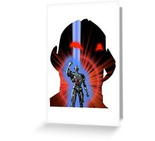 Avengers Ultron Silhouette Greeting Card