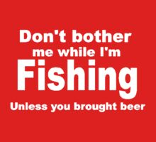 fishing with beer Kids Clothes