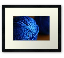 Blue wool Framed Print