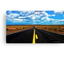 Road to Meteor Crater Canvas Print