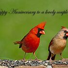 Happy Anniversary to a Lovely Couple by Bonnie T.  Barry