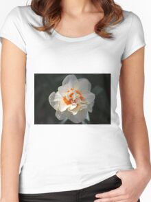 Blooming Double Daffodil  Women's Fitted Scoop T-Shirt