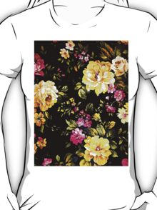 Rose White Vintage Pattern T-Shirt