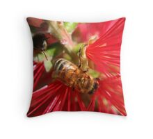 Bees Have the Brush Throw Pillow