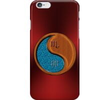 Scorpio & Rabbit Yin Wood iPhone Case/Skin