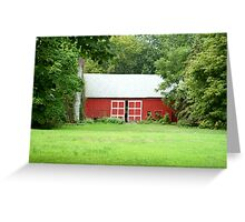Red Countryside Greeting Card