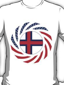 Faroe Islands American Multinational Patriot Flag Series T-Shirt