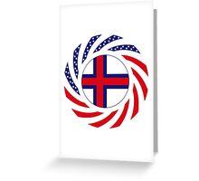 Faroe Islands American Multinational Patriot Flag Series Greeting Card