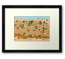 Australian Brickscape Framed Print