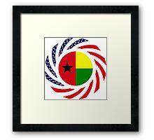 Guinea Bissau American Multinational Patriot Flag Series Framed Print
