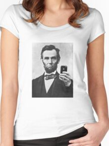Abraham Lincoln Women's Fitted Scoop T-Shirt