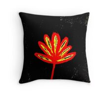 Red flower 3 Throw Pillow