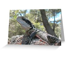 Prehistoric reminder - Eastern Water Dragon Greeting Card