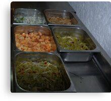 Mexican Food Buffet Canvas Print