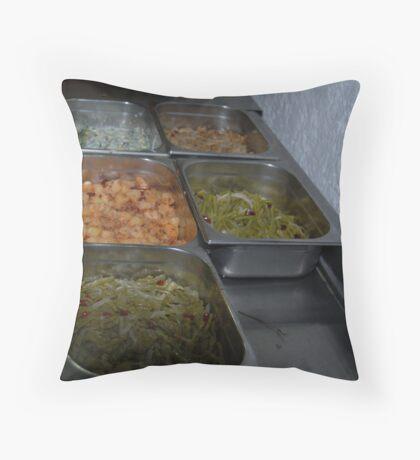 Mexican Food Buffet Throw Pillow