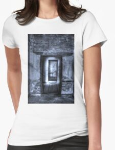 Two doors. Womens Fitted T-Shirt