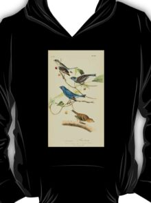 James Audubon Vector Rebuild - The Birds of America - From Drawings Made in the United States and Their Territories V 1-7 1840 - Indigo Bunting T-Shirt