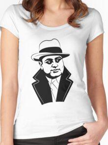 Al Capone Portrait Women's Fitted Scoop T-Shirt