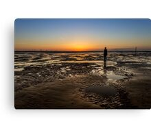 Crosby Beach Sunset Canvas Print
