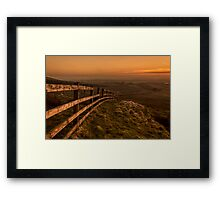 Warm and hazy, time to be lazy Framed Print