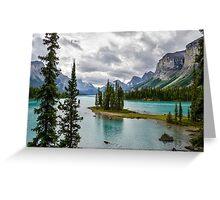 Maligne Lake from Spirit Island Greeting Card