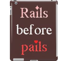 Rails Before Pales iPad Case/Skin