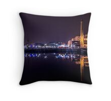 Canning Dock panorama Throw Pillow