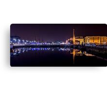 Canning Dock panorama Canvas Print