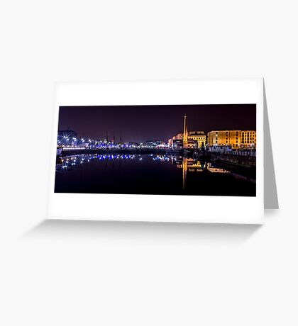 Canning Dock panorama Greeting Card