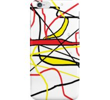 Abstract in Red, Yellow, & Black... on White iPhone Case/Skin