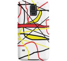 Abstract in Red, Yellow, & Black... on White Samsung Galaxy Case/Skin