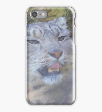 Snow Leopard Portrait (Photo Cezanne Style) iPhone Case/Skin