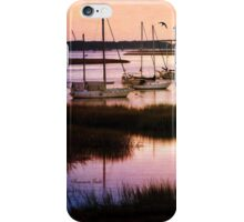 Boats at Anchor~ Evening Tranquility iPhone Case/Skin
