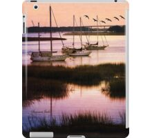 Boats at Anchor~ Evening Tranquility iPad Case/Skin