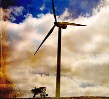Wind turbine with texture by Elana Bailey